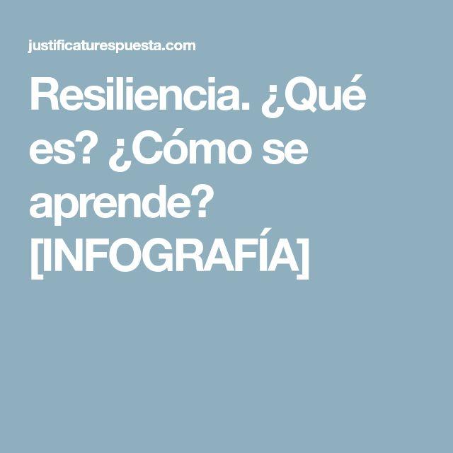 Resiliencia. ¿Qué es? ¿Cómo se aprende? [INFOGRAFÍA]