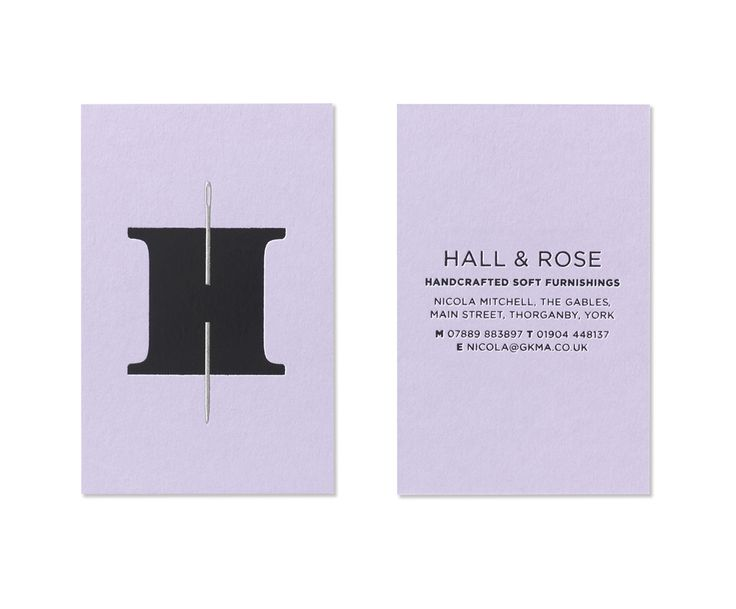 Awesome logo for Hall & Rose, a company making soft furnishings by hand. Designed by UK firm Elmwood.