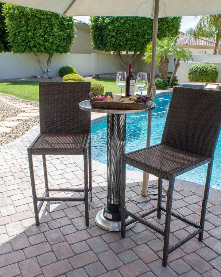 The Indoor-Outdoor Heat Lamp Table for warm family time outdoors this winter! http://www.wickedgadgetry.com/2015/10/13/indoor-outdoor-heat-lamp-table/ #indoor #outdoor #heat #lamp #table