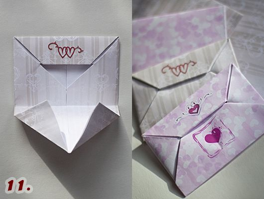 how to make an envelope out of a4 size paper