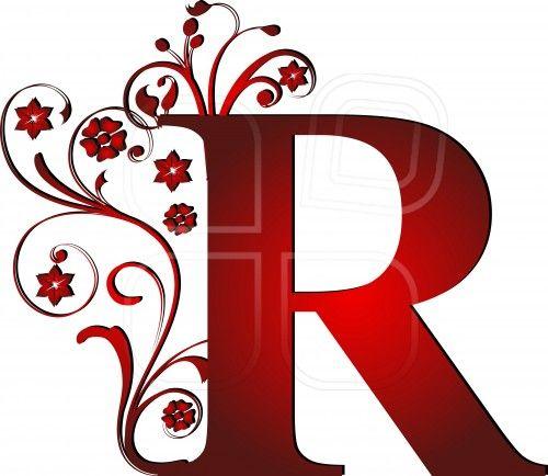 Capital Letter R Red Alphabets 10 Sets Vol 9 Lettering