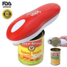 Electric Can Opener, Restaurant can opener, Smooth Edge Automatic Can Opener!