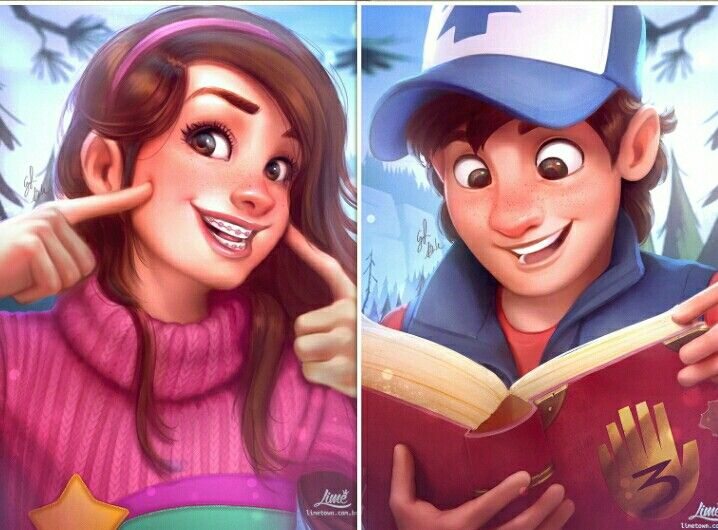 I'm Dipper and this is my sister Mabel, and together we are the MYSTERY TWIN…