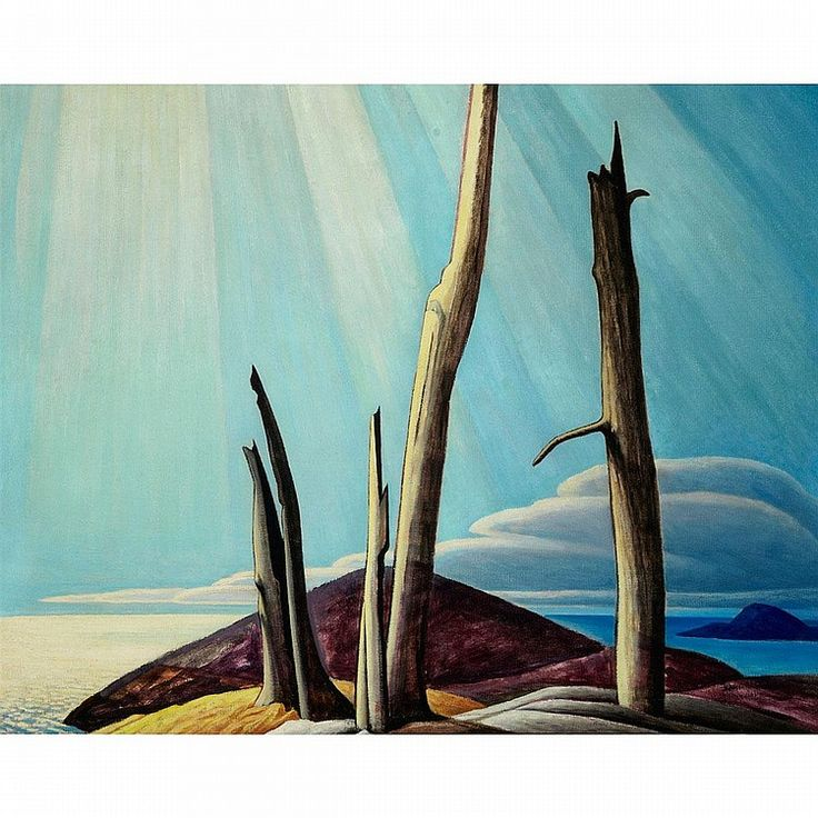 "LAWREN  HARRIS: ""Lake Superior Painting X,"" oil on canvas, 40 x 50. private collection."