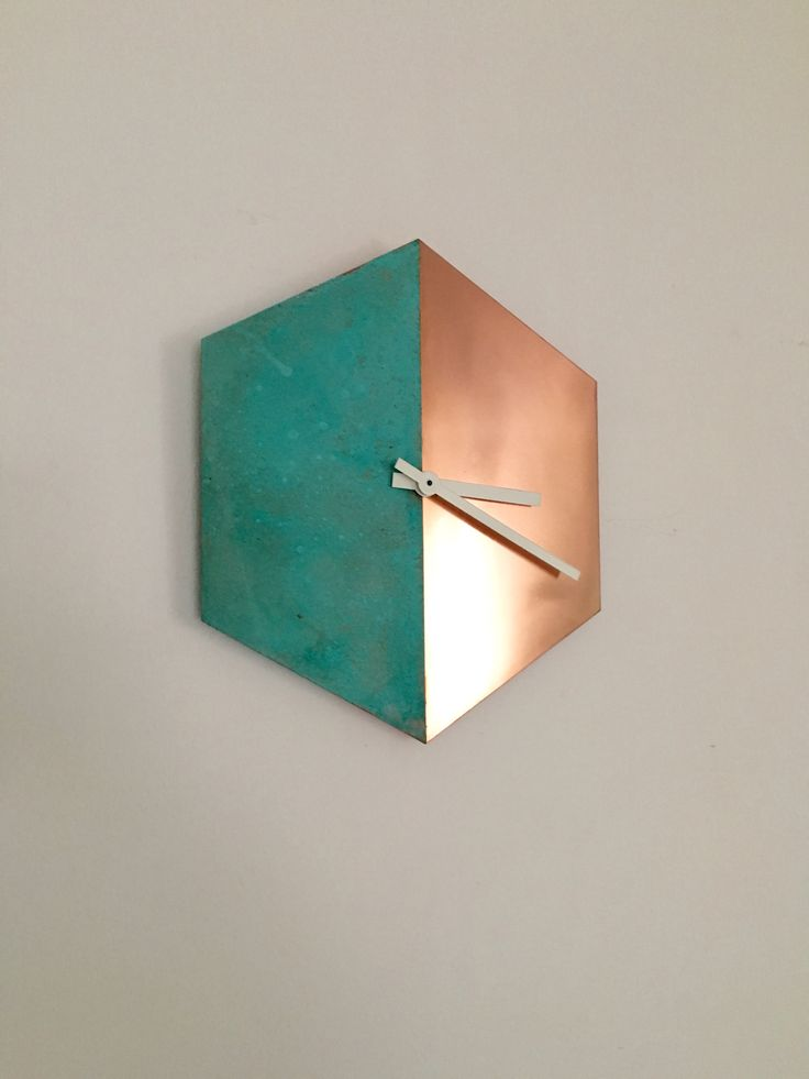 Selfmade patina copper clock diy my own creations for Whatever clock diy