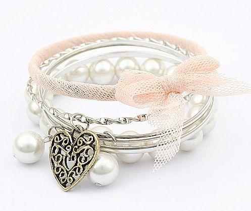 pearls. silver. bracelets