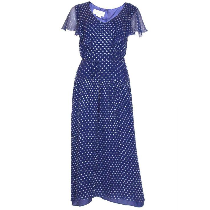 1970's Gina Fratini Silk Party Dress