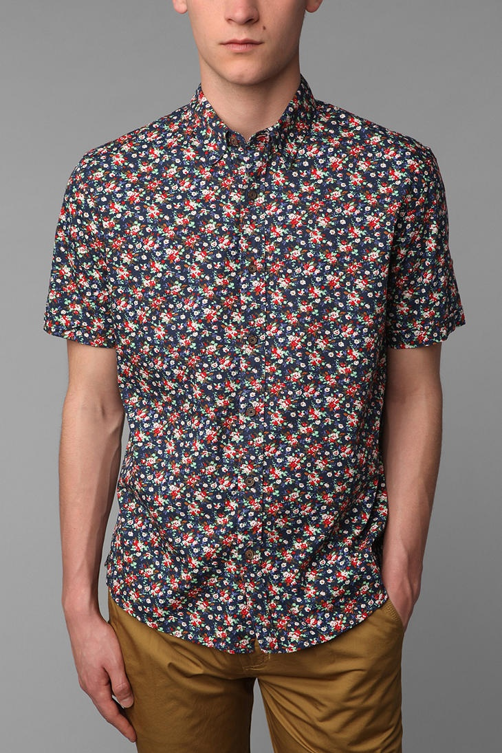 Vanishing Elephant Classic Short-Sleeved Woven Shirt