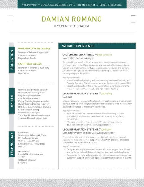 structured - Contemporary Resume
