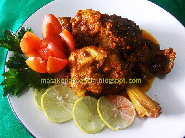 Resep Rendang Ayam Resep Ayam Resep Makanan