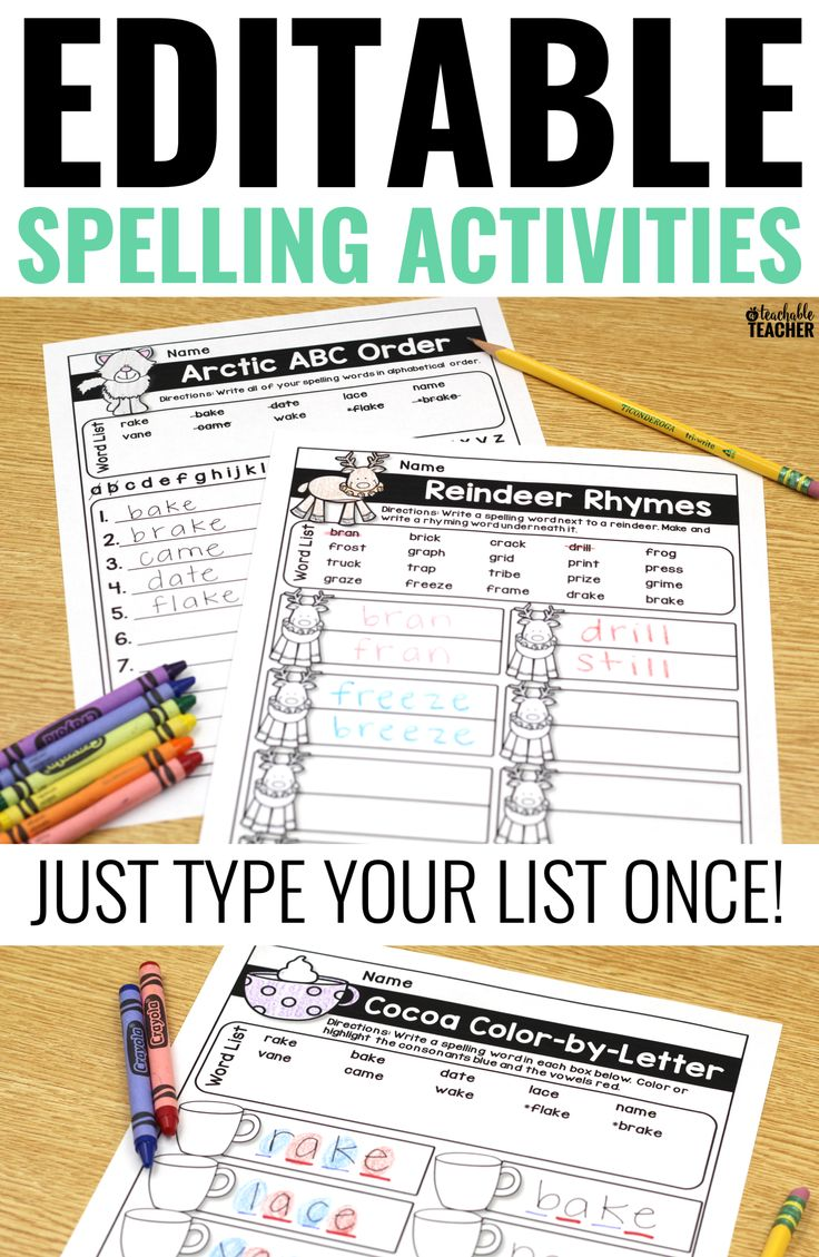 Activities for learning spellings by Casabrindi - Teaching ...