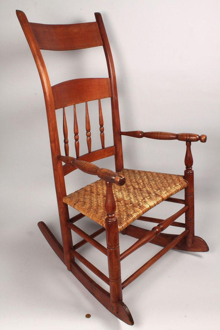 Kentucky Rocker Comprised Of Mixed Woods And Cherry Back