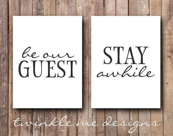 Guest Room Decor, Be Our Guest Sign, Guest Room Art, Stay ...