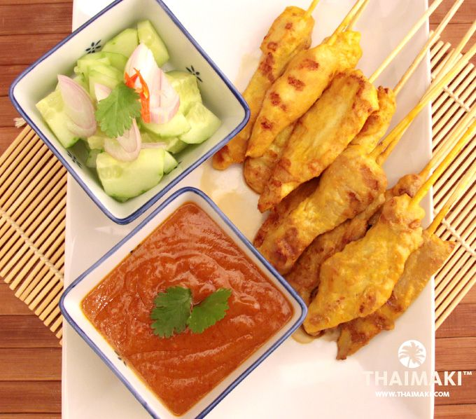 Brochettes satay via @_Thaimaki #thai #food #recipe