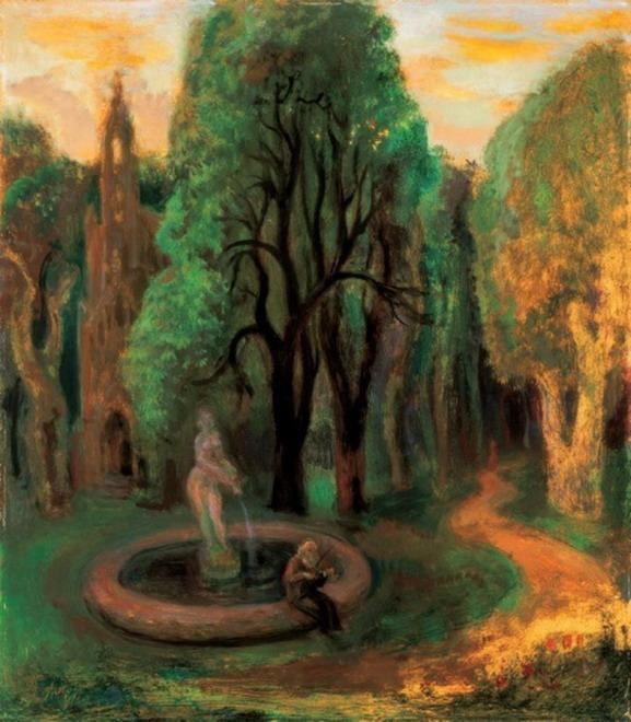 """Vladimir Szabó """"Park at Sunset"""""""