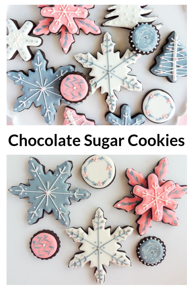 These delicious chocolate sugar cookies roll out beautifully with no flour mess …