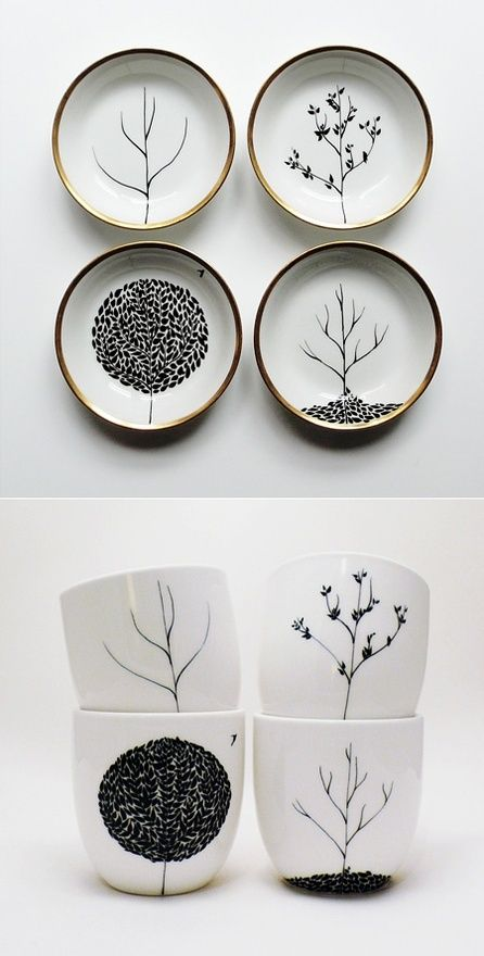 I can do this with the Sharpie idea. Mug, Sharpie design on mug, 350 degree oven for 30 min. Art!