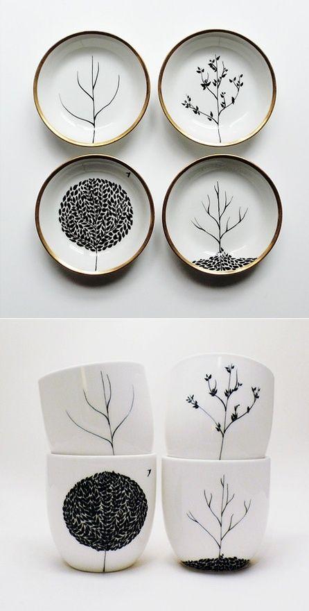 I can do this with the Sharpie. Mug, Sharpie design on mug, 350 degree oven for 30 min. Art! @ Home Decor Ideas
