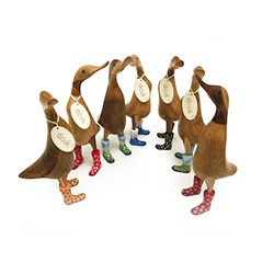 DCUK: Wooden Ducklets in Wellies