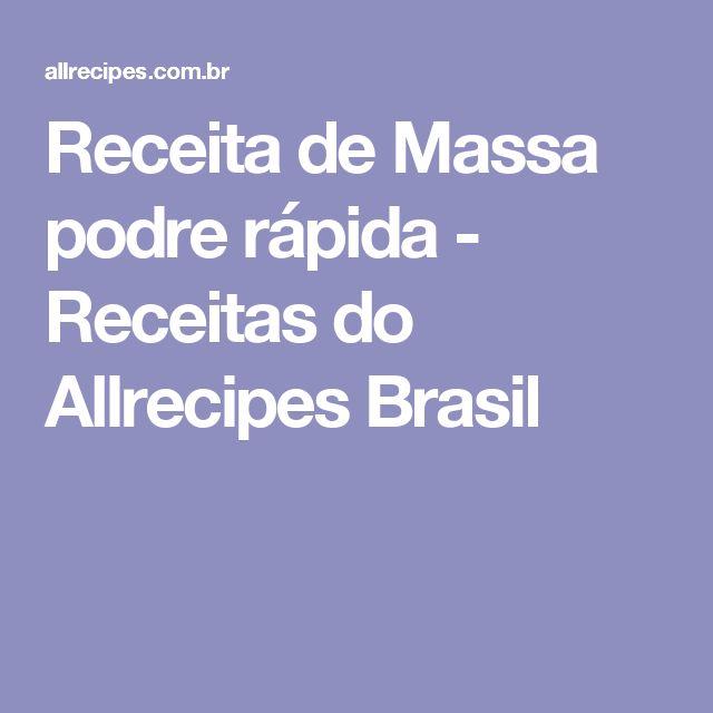 Receita de Massa podre rápida - Receitas do Allrecipes Brasil