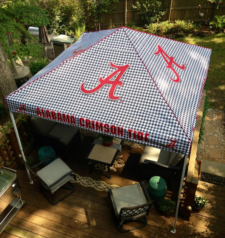 Your Tailgating Tent can also be used for some homegating shade on the deck or porch.  #HomegateFever #RollTide