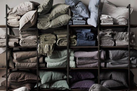 Restoration Hardware's New Linen Bedding Collection : Architectural Digest