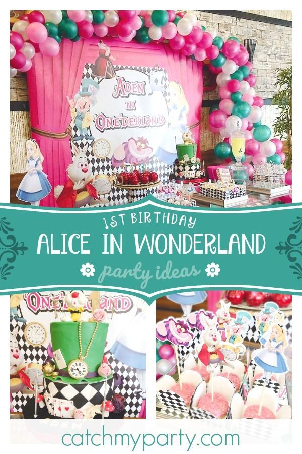 Alice In Wonderland Birthday Aden S Onederland Party 1st