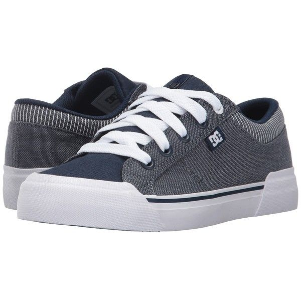 DC Danni TX SE (Chambray) Women's Skate Shoes (€46) ❤ liked on Polyvore featuring shoes, rubber toe skate shoes, breathable shoes, dc shoes footwear, dc shoes and chambray shoes