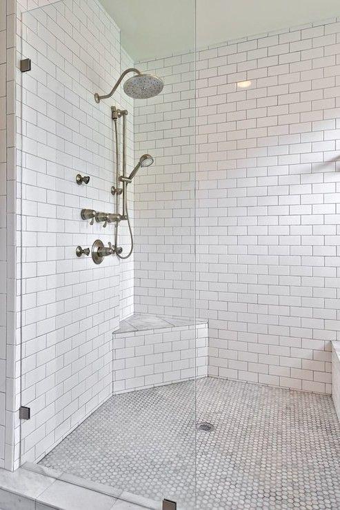 best 25+ white tile shower ideas on pinterest