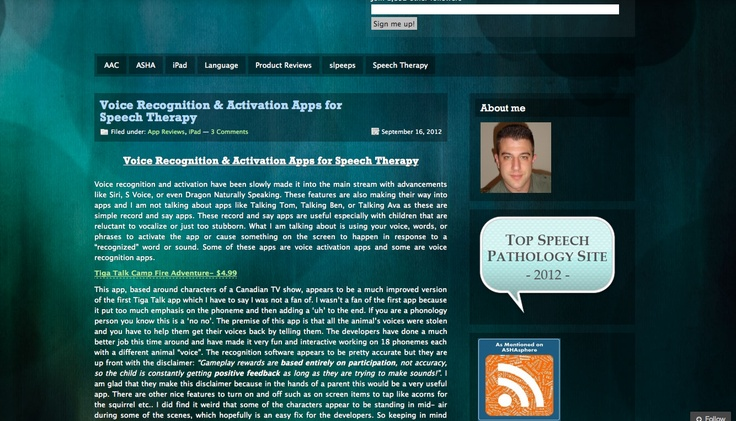 Voice Recognition & Activation Apps for Speech Therapy by The Speech Guy (Jeremy Legaspi)