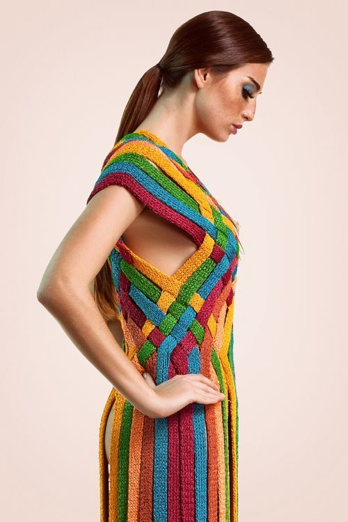 Knitting Wearable Art : Knits rainbow dresses and wearable art on pinterest