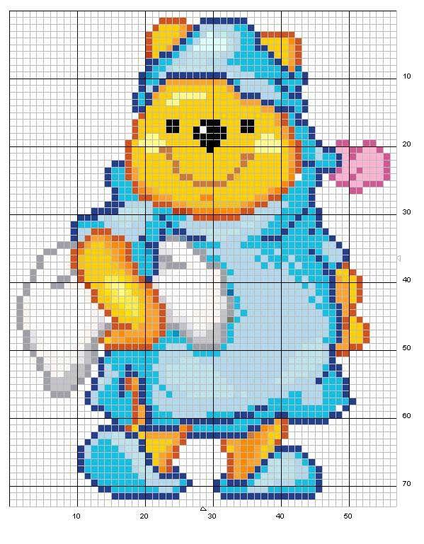 Schema punto croce Winnie