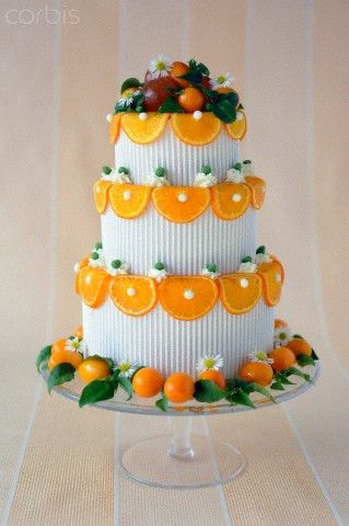 Mandarin orange wedding cake, Numer utworu: 42-55882281, Fotochannels