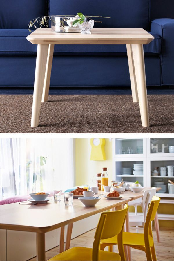 The Visible Variations In Wood Grain Of IKEA LISABO Tables Give A Warm
