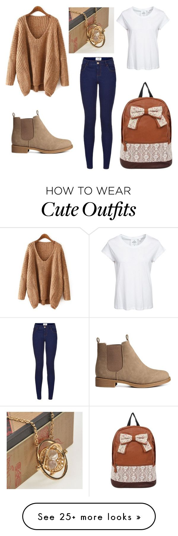 """Time Turner Outfit"" by hashtagemojis on Polyvore featuring H&M, Cheap Monday and Retrò"