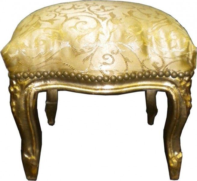 Barock Fußhocker Gold Muster / Gold #luxusmoebel #barockmoebel #barockeinrichtung #casapadrino