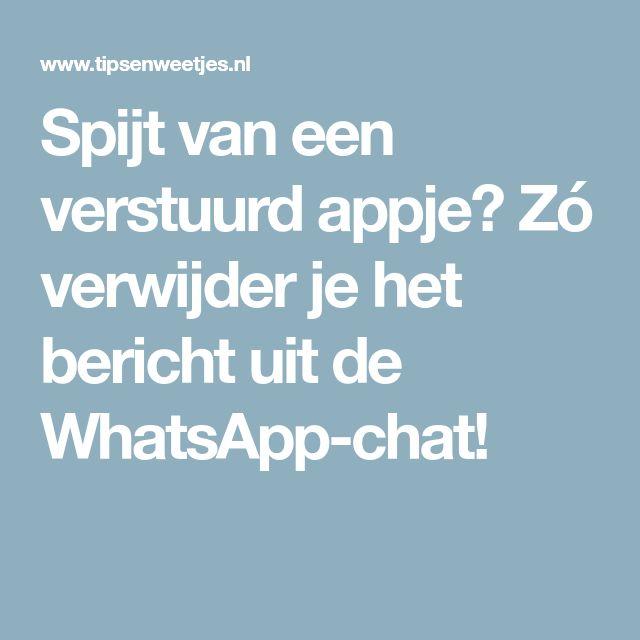 Spijt van een verstuurd appje? Zó verwijder je het bericht uit de WhatsApp-chat!