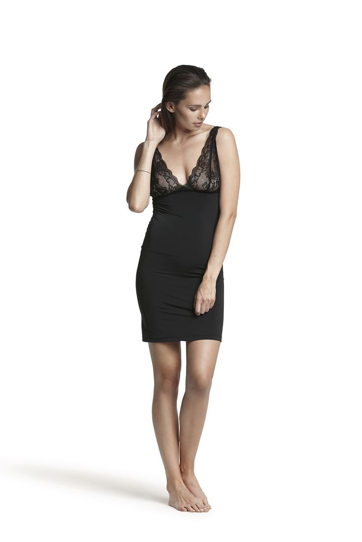 Gala chemise dress #black #fashion #sweet #dreams #dress #basic #AW15