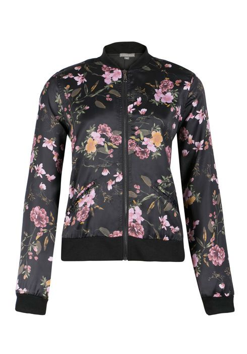 Ladies Floral Bomber Jacket