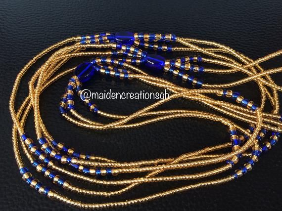 Tie On or Clasped Frost Waist Beads African Waist Bead Tribal Waist Beads- Ghana Waist Beads
