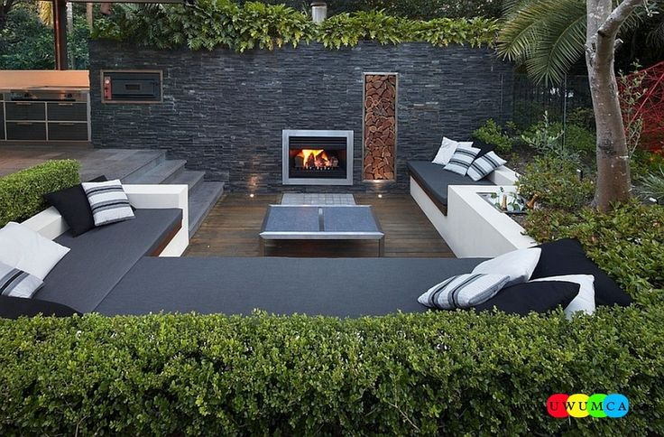 Outdoor / Gardening:Create Outdoor Lounge With Sunken Seating Area Ideas Build Conversation Pits Sunken Sitting Areas In Pool Garden Outside Decor Design Contemporary Patio In Sydney With A Trendy Sunken Lounge Elevate The Style Quotient Of Your Outdoor Lounge With Sunken Seating Area