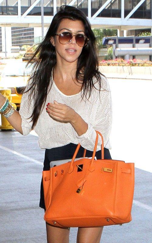 Orange Birkin Hermes Bag | celebrity style | Pinterest | Orange ...