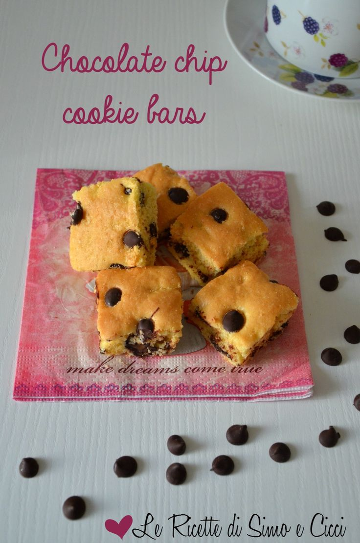 Chocolate chip cookie bars - Barrette con gocce di cioccolato