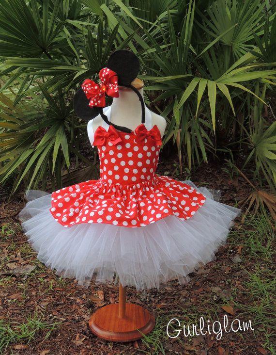 Minnie Mouse Costume, Minnie Mouse Tutu Dress Minnie by Gurliglam, $75.00