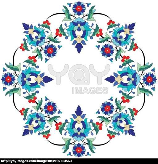 Ottoman motifs design series seventy three