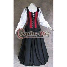 Custom Made stredoveké šaty plesové šaty renesančné šaty Bižutéria Ženy Halloween Cosplay kostým (Čína (pevninská časť))
