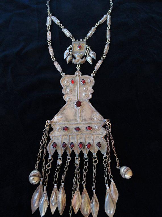 Oro e argento d'epoca Turkomen lavare collana di 7SISTERStradingco