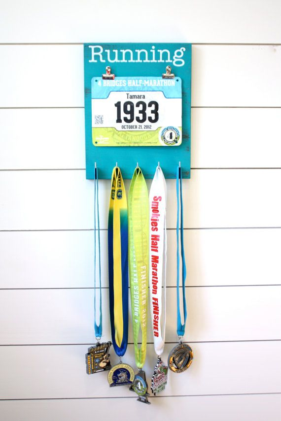 Hey, I found this really awesome Etsy listing at https://www.etsy.com/listing/181759482/running-race-bib-and-medal-holder