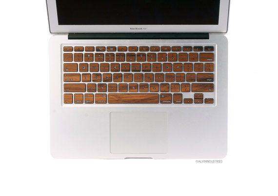 MacBook hout toetsenbord Skin sticker echt hout Macbook Teak