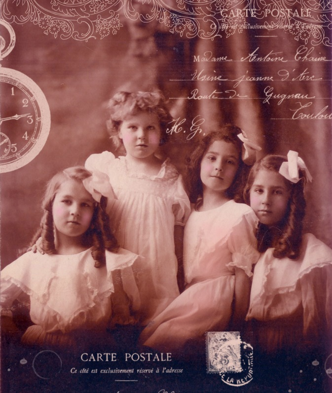 Free Vintage Printable Photo - Four Cute Girls: Printable Photos, Digital Scrapbook Paper, Vintage Photos, Free Vintage, Vintage Digital, Free Digital, Digital Stamps, Vintage Girls, Old Photos